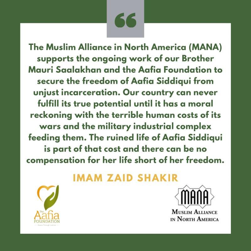[Sep 16, 2021] MANA Endorses the Free Aafia Mobilizations